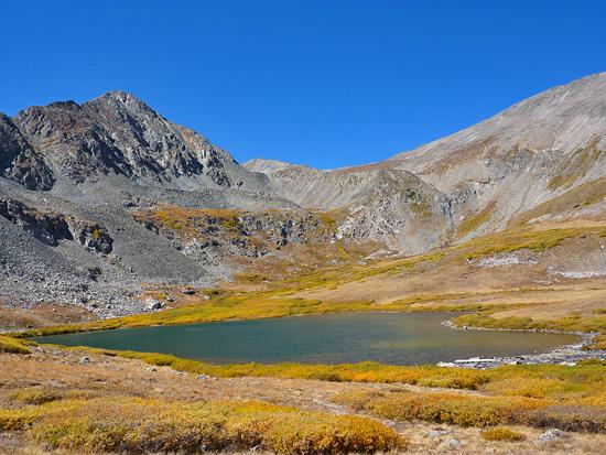 Lower Crystal Lake and Father Dyer Peak (13,615')