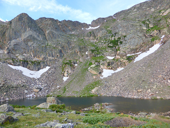 Chiquita Lake in the Mummy Range of Rocky Mountain National Park