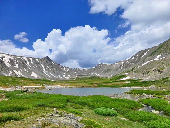 One of five alpine lakes and tarns above Mohawk Lake